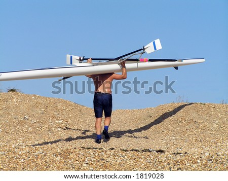 Carrying your Cross - stock photo