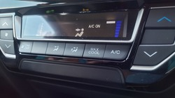 cars air conditioners system controllers selective focus background