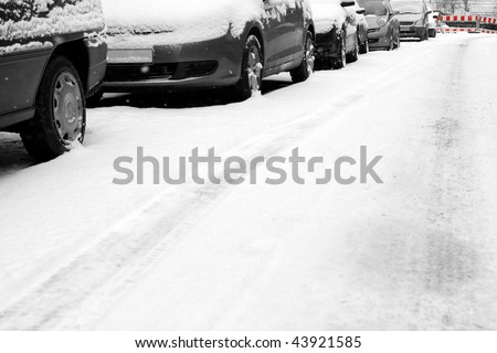 Cars and snow