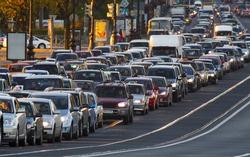 cars, city traffic, traffic jams, a stream of cars