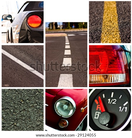 cars collage - high definition photo