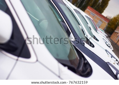 Cars For Sale Stock Lot Row. Car Dealer Inventory #767632159