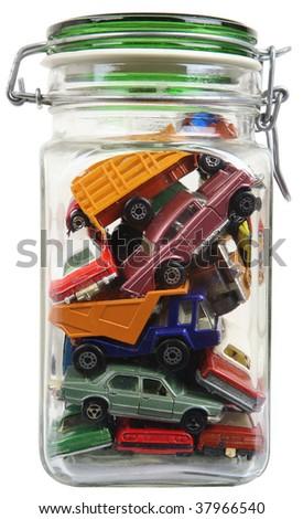 cars in a jar