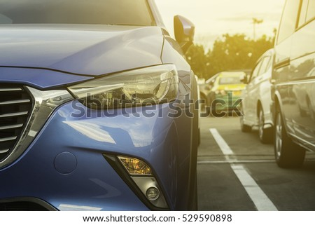 Cars in the car park