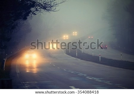 Cars in the fog #354088418
