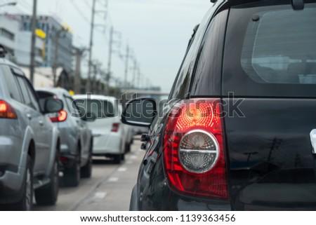 Cars in traffic jam #1139363456