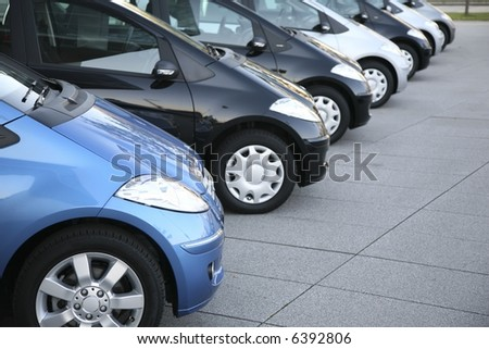 cars on parking - stock photo