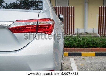 cars parked in front