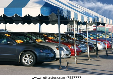 Cars sale - stock photo