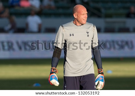 CARSON, CA - JULY 24: Brad Friedel before the Tottenham Hotspur vs Los Angeles Galaxy game on July 24, 2012 at the Home Depot Center in Carson