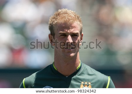CARSON, CA. - July 24: Manchester City FC G Joe Hart #25 before the World Football Challenge game on July 24 2011 at the Home Depot Center in carson, Ca.