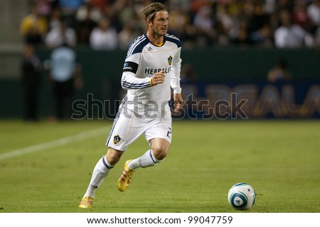 CARSON, CA. - SEPT 9: Los Angeles Galaxy M David Beckham #23 during the MLS game between the Colorado Rapids & the Los Angeles Galaxy on Sept 9, 2011 at the Home Depot Center in Carson, CA.