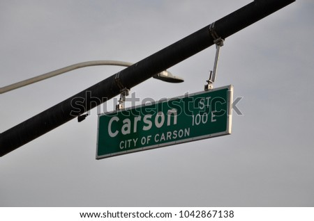 Carson street sign #1042867138