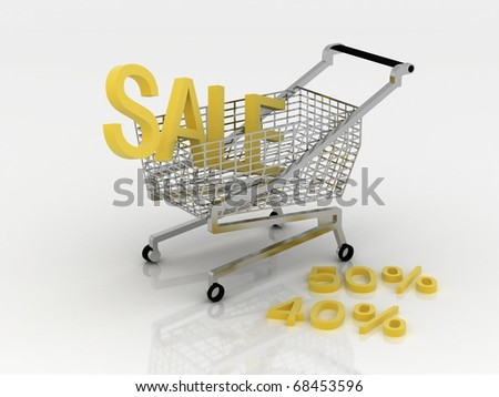 Cart for the shopping in sales