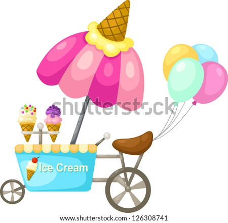 cart stall and a ice cream . jpg (EPS vector version id 126059234,format also available in my portfolio)