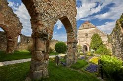 Carta, Sibiu. Ruins of medieval Cistercian abbey in Transylvania, Romania