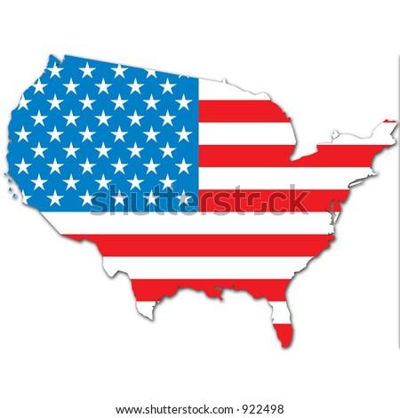 carte et drapeau des etats unis stock photo 922498 shutterstock. Black Bedroom Furniture Sets. Home Design Ideas