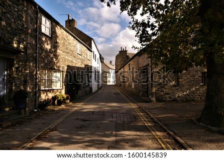 Cartmel village road in autumn Stock photo ©