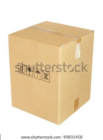 Carton box isolated on white background
