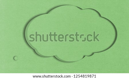 Carton Clouds as a postcards or Title background #1254819871