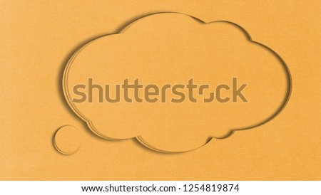 Carton Clouds as a postcards or Title background #1254819874