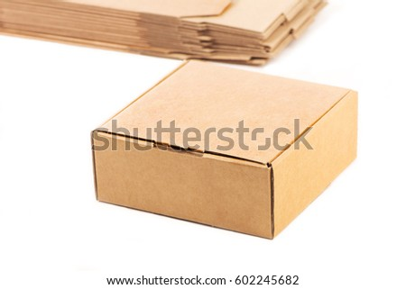 Carton gift packaging for packaging products isolated on white #602245682