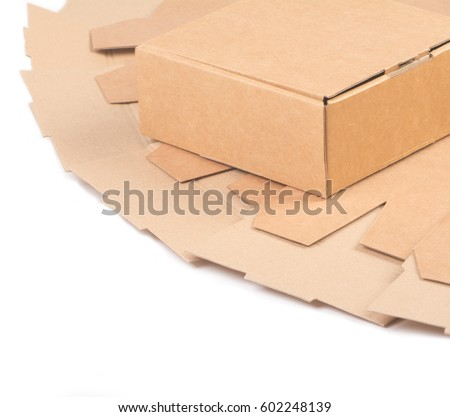 Carton gift packaging for packaging products isolated on white #602248139