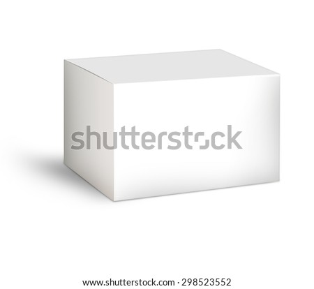 carton, pack shot, White Product Illustration Isolated On White Background. Mock Up
