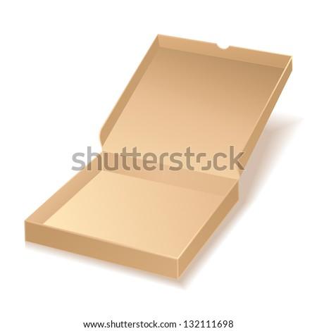 carton pizza box on white background