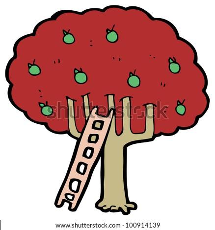 Apple Tree Cartoon Images Cartoon Apple Tree