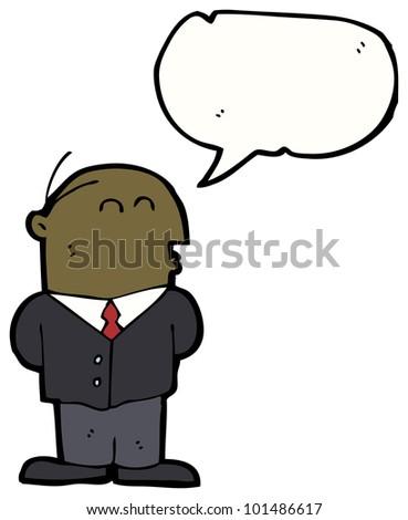 cartoon balding businessman - stock photo