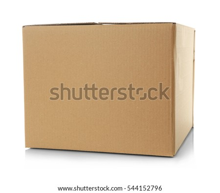 Cartoon box isolated on white #544152796