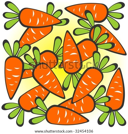 cartoon carrot characters. stock photo : Cartoon carrots