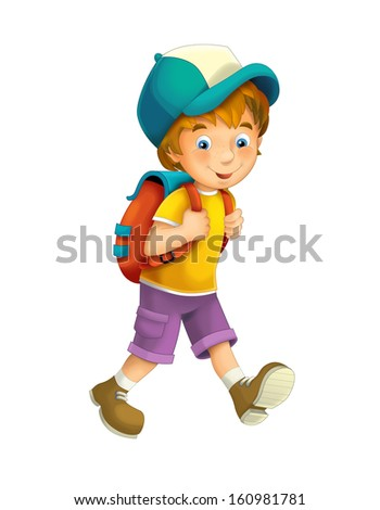 Cartoon child isolated - illustration for the children
