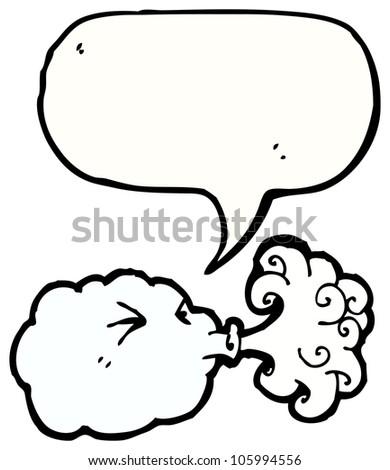 Cartoon Cloud Blowing Wind Stock Photo 105994556 : Shutterstock