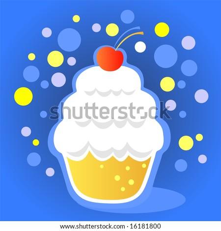 cupcakes cartoon. stock photo : Cartoon cupcake