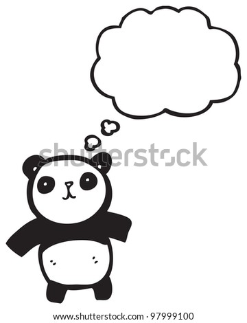 cartoon cute panda
