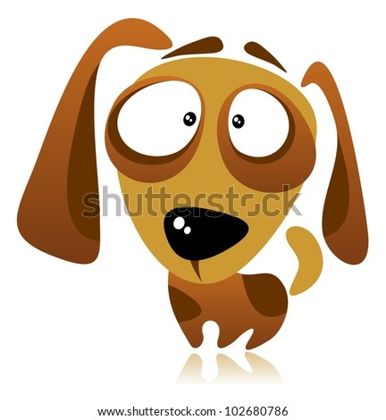 Cartoon dog isolated on a white background.