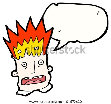 Head Explosion Cartoon Cartoon Exploding Head Man