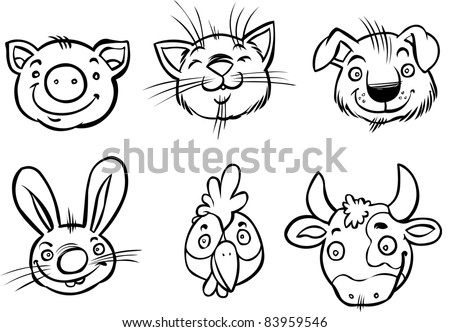 Pictures Animal on Cartoon Animals Outlines