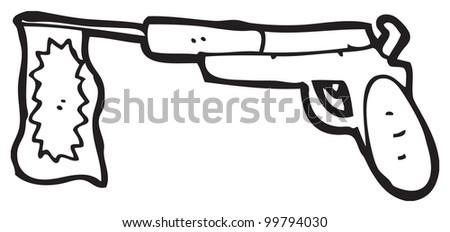 cartoon fake gun
