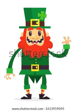 Cartoon funny Leprechaun. Illustration for St. Patrick's Day
