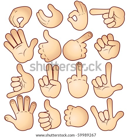 Cartoon Hands collection (version vector id=56993644)