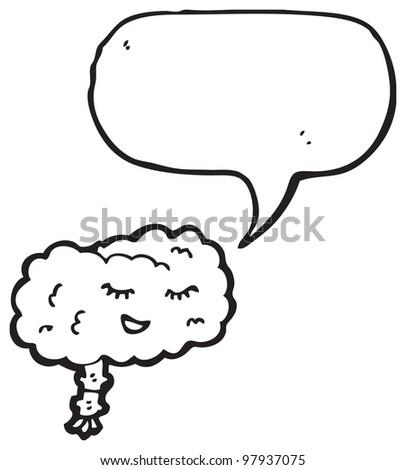 cartoon happy brain