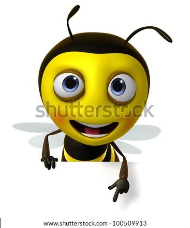cartoon honey bee