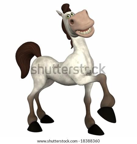 Cartoon Horse Marching