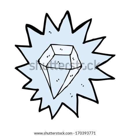 cartoon huge diamond