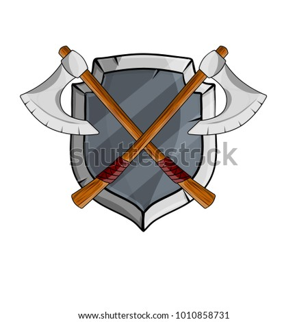 Cartoon Illustration Coat Of Arms Medieval Arms And Armor Grey