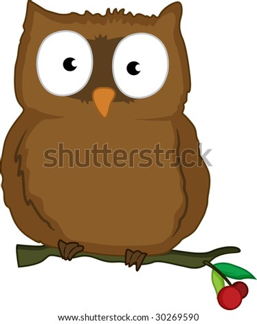 cartoon images of owls. Cartoon Illustration Of A Owl