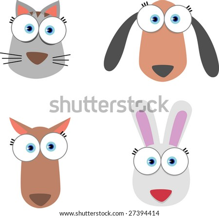 cartoon animals to draw. animal clipart draw